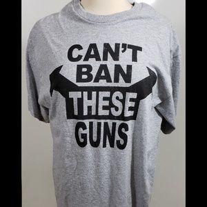 Mens Graphic Tee Can't Ban These Guns sz L